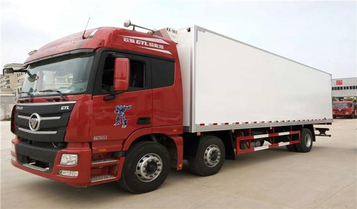 8米小三轴欧曼冷藏车15吨冷藏车